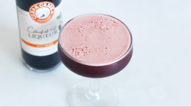 Make a Dark and Moody Whiskey Lemonade With Cassis