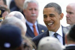 President Obama visits Ground Zero. (the Washington Post)