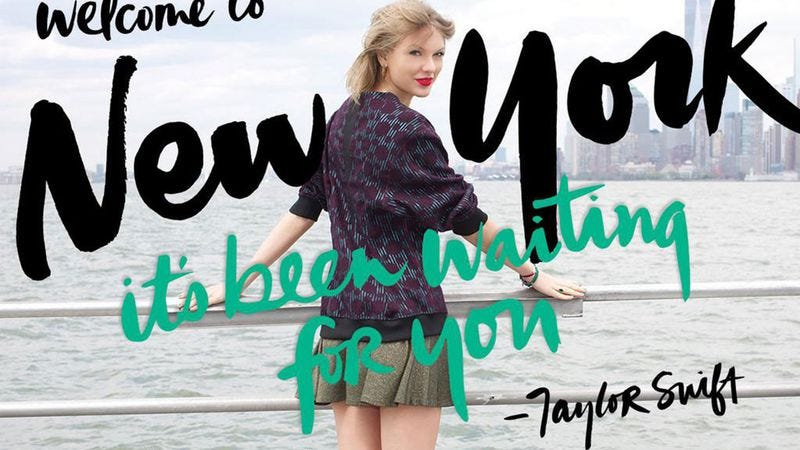 Illustration for article titled Taylor Swift to control all time and space around New York