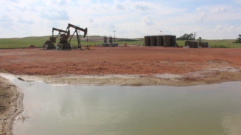Fracking operations in the Bakken region in North Dakota.
