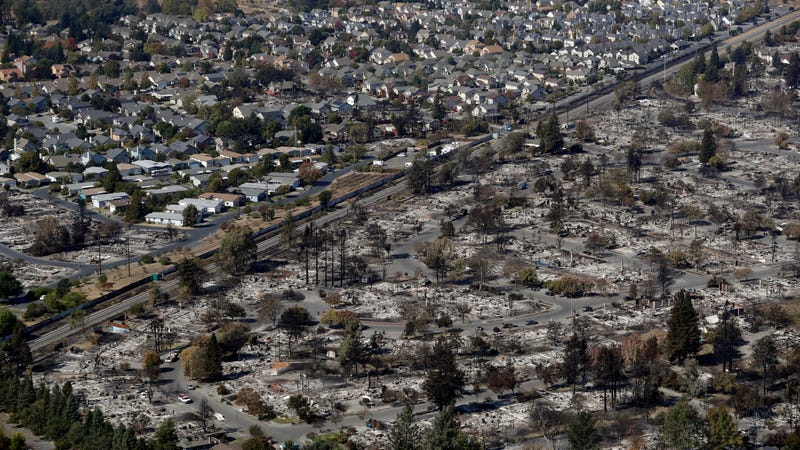 Destruction in Santa Rosa, California. Photo: AP