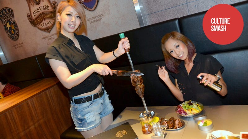 Illustration for article titled Japan's Resident Evil Restaurant Has More Hot Pants Than Zombies