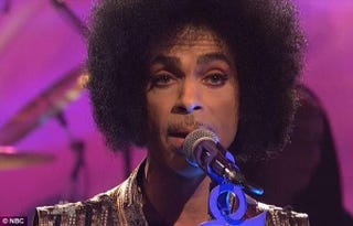Prince on Saturday Night LiveSaturday Night Live/NBC