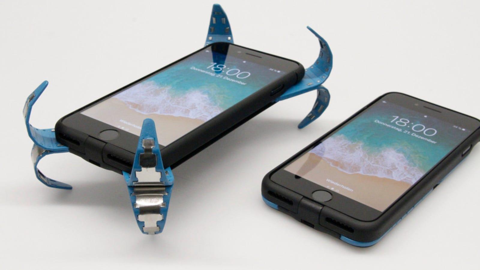 Esta ingeniosa funda activa un sistema tipo airbag cuando detecta que tu móvil cae
