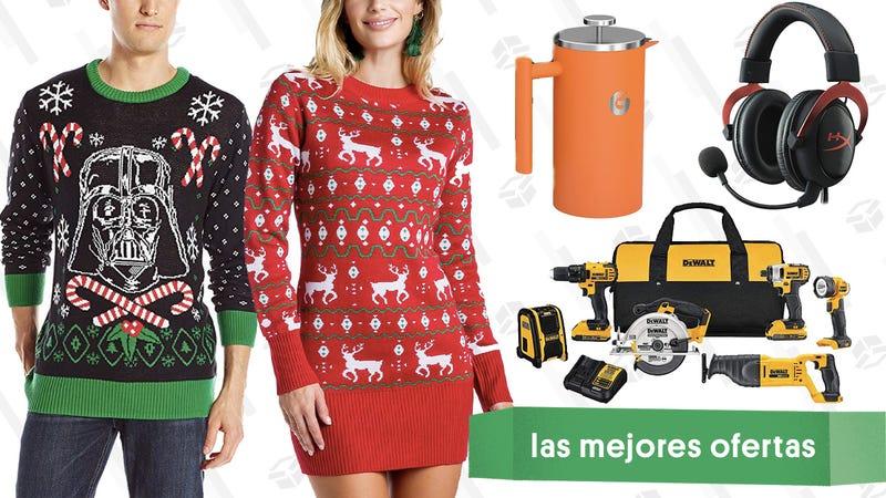Illustration for article titled Las mejores ofertas de este miércoles: Herramientas DeWalt, máquinas de ruido blanco, sweaters navideños y más