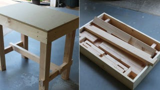 Illustration for article titled Build a Collapsible Workbench for Easy Storage Anywhere