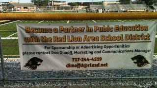 Illustration for article titled Banner At High School Football Stadium Has Regrettable Typo