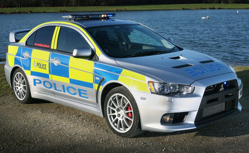 Illustration for article titled UK County Gets Three Mitsubishi Lancer Evolution X Police Cars