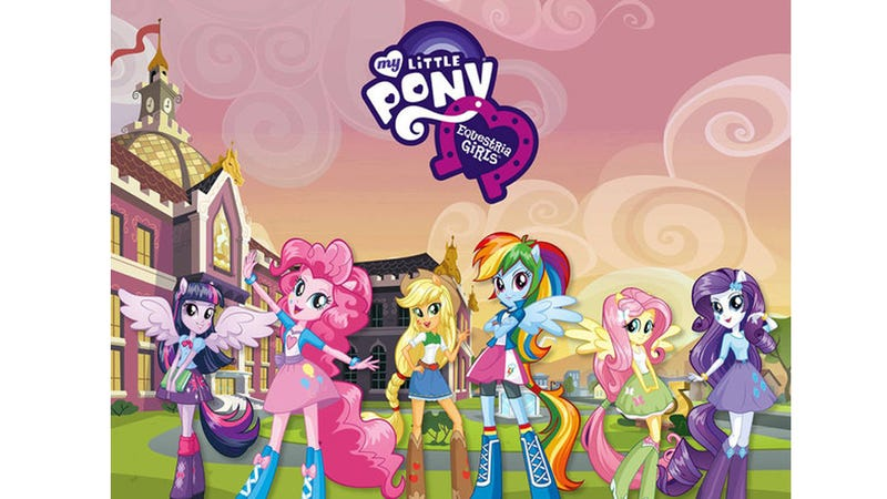 Illustration for article titled My Little Pony Spinoff: Teenage Horse-Girls With Manes. And Hands.