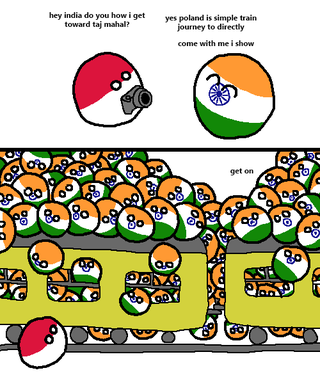 Illustration for article titled Poland visits India