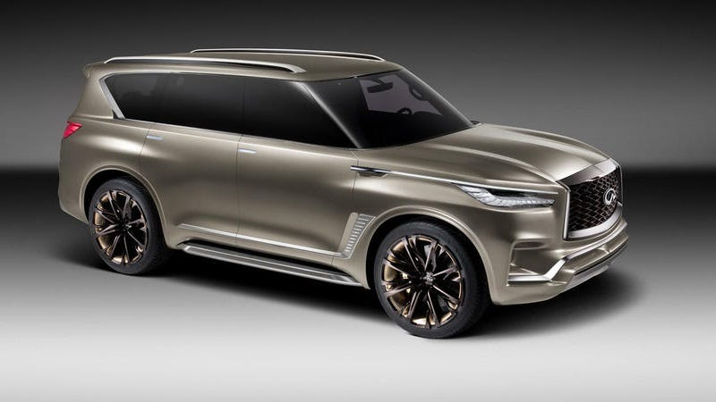 Illustration for article titled The Next Infiniti QX80 Will Be Less Terrible To Look At