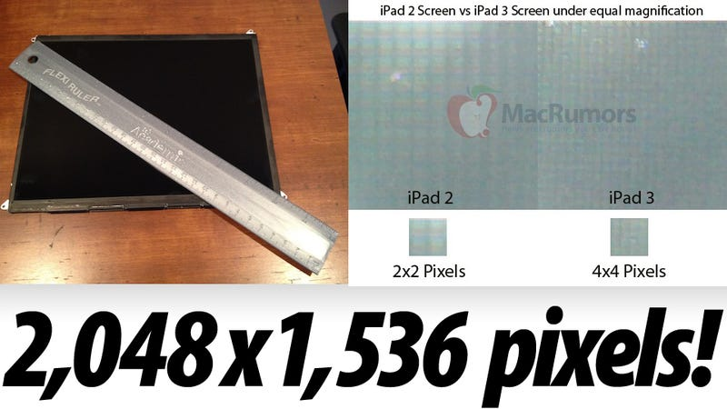 Illustration for article titled Leaked Display May Be Definitive Proof of iPad 3 Double Resolution