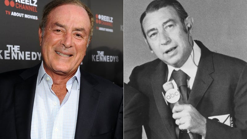 "Illustration for article titled And Then Al Michaels Said To Howard Cosell: ""You're Drunk. You're Ruining The Fucking Telecast."""