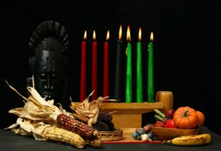 The kinara, used to celebrate KwanzaaiStock