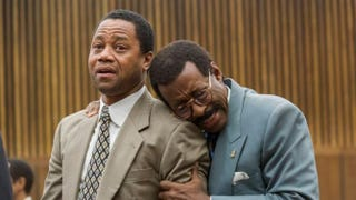 O.J. Simpson (Cuba Gooding Jr.) and Johnnie Cochran (Courtney B. Vance) react to the verdict in the final episode of The People v. O.J. Simpson.Prashant Gupta/FX