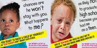 New York City teen-pregnancy ads (ColorLines)