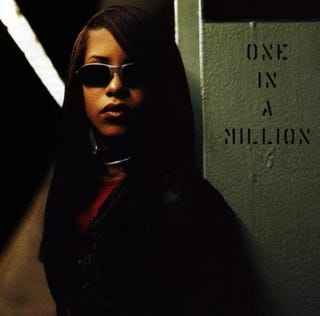 Aaliyah on cover of her One in a Million albumAmazon