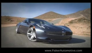 Illustration for article titled The Fisker Karma Makes Its First... Commercial