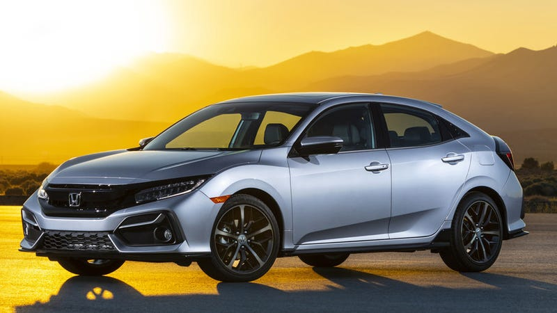 Illustration for article titled The 2020 Honda Civic Hatchback Gets The Manual For The Top Trim