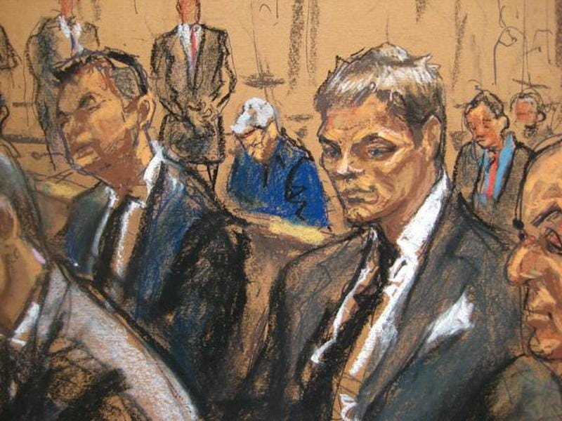 Illustration for article titled Tom Brady Looks Like He's Melting In His Courtroom Sketch