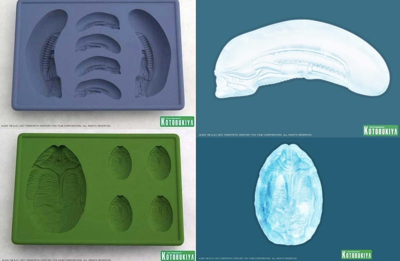 Illustration for article titled Alien ice cube trays allow you to put some H.R. Giger in your piña colada