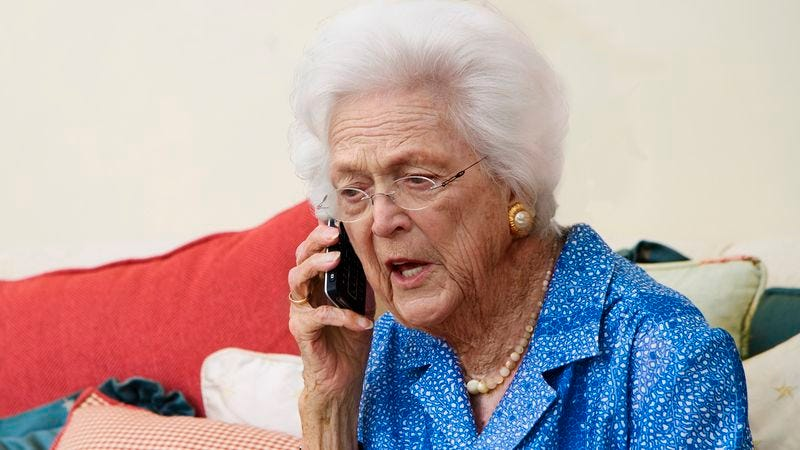 Illustration for article titled Barbara Bush Calls White House To See If She Can Leave Husband There For Few Hours