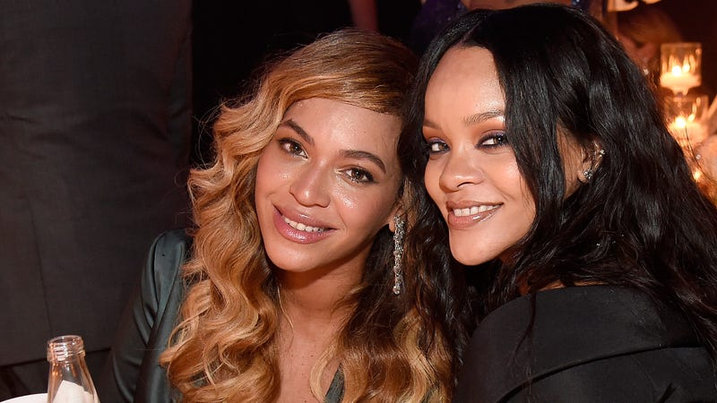 Beyonce and Rihanna attend Rihanna's 3rd Annual Diamond Ball Benefitting The Clara Lionel Foundation at Cipriani Wall Street on September 14, 2017 in New York City.
