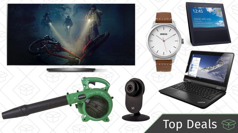 Illustration for article titled Friday's Top Deals: Lenovo Thinkpad, LG OLED TV, Leaf Blower, and More