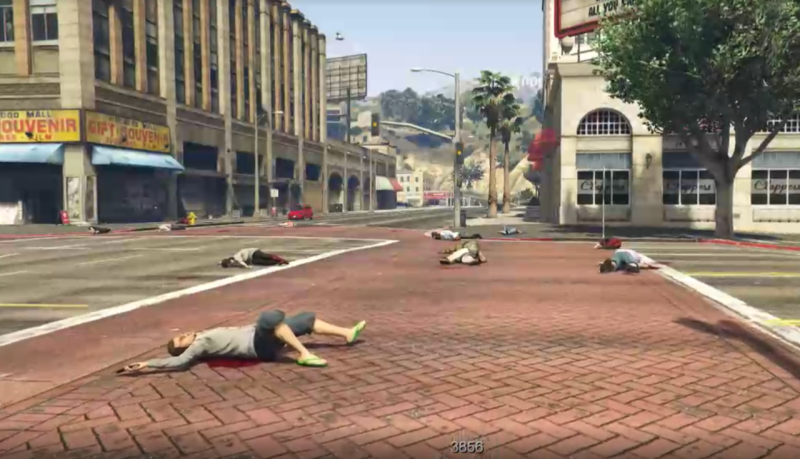 Illustration for article titled Artist Uses GTA V To Explore American Gun Violence