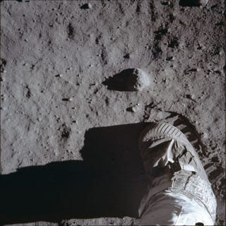 Illustration for article titled Rare photos reveal fascinating views of the Apollo 11 moon landing