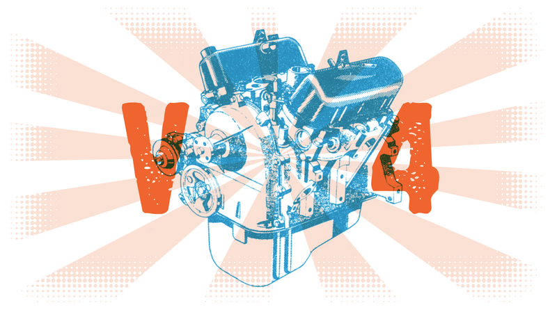 Illustration for article titled Why Are V4 Engines So Rare?
