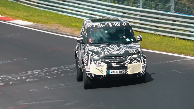 Illustration for article titled 2021 Land Rover Defender Spied Testing On The Nürburgring Again