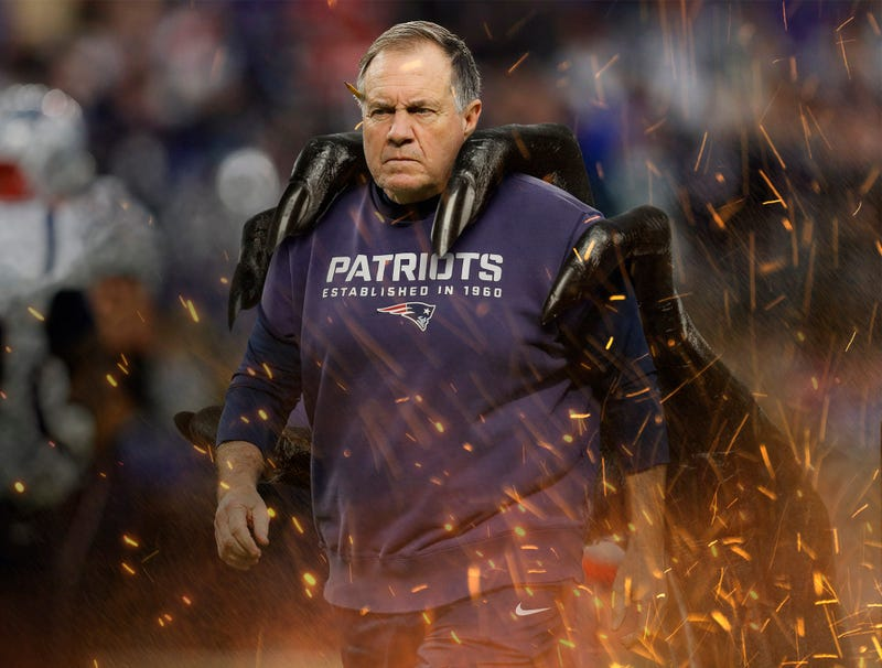 Illustration for article titled Giant Demonic Hand Bursts Out Of Ground, Drags Bill Belichick Back To Hell