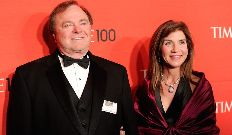 Continental Resources CEO Harold Hamm and his ex-wife Sue Ann Arnoll in happier times. Image via AP.