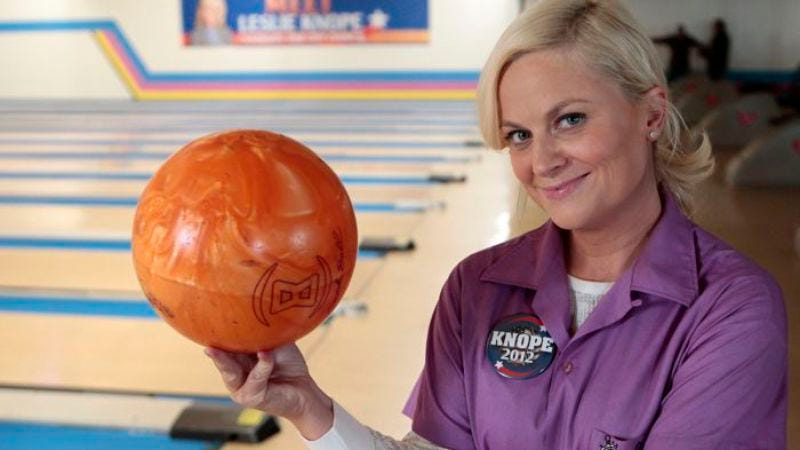"Illustration for article titled Parks And Recreation: ""Bowling For Votes"""