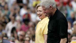 Bill and Hillary Clinton in 2007 during her campaign for the Democratic nominationScott Morgan/Getty Images