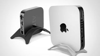 Illustration for article titled The NewerTech NuStand Holds Your Apple TV and Mac Mini Vertically to Save Space