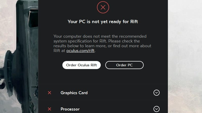 Illustration for article titled See If Your PC Is VR-Ready With the Oculus Rift Compatibility Tool