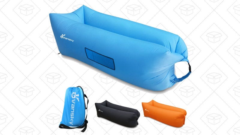 Vansky Outdoor Inflatable Lounger, $29 with code MSAIDJPT