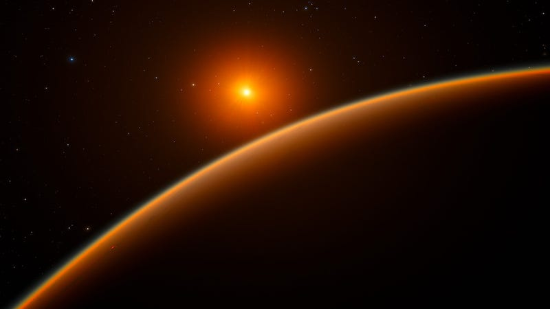 Artist's rendition of exoplanet LHS 1140b. (Image: ESO/spaceengine.org)