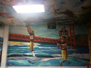 Illustration for article titled Madness Is...A 49ers Taquería Mural