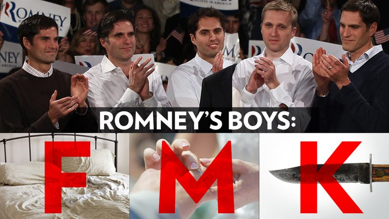Illustration for article titled Fuck, Marry, Kill: The Romney Sons