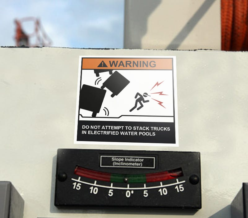 Illustration for article titled The Ten Scariest Truck Warning Labels Ever