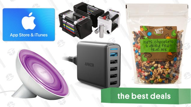 The Best New Year s Eve Deals: Trail Mix, Adjustable Weights, Philips Hue Lights, and More