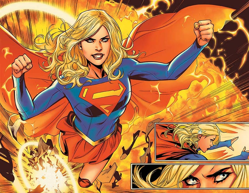 Image from Supergirl Rebirth #1 by Emmanuela Lupacchino.