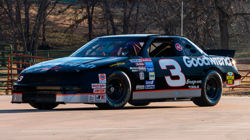 """The 1994 Chevrolet Lumina raced by Dale Earnhardt Sr. (This caption formerly said """"Jr."""" It has been corrected.)"""