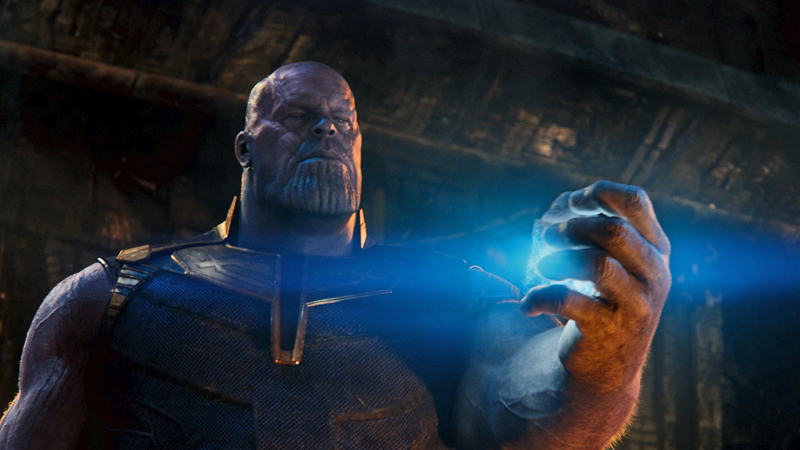 Thanos takes the tesseract for his own plans in Avengers: Infinity War.