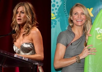 """Illustration for article titled How Come Jennifer Aniston Is Lonely, But Cameron Diaz Is """"Lucky""""?"""