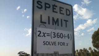 Illustration for article titled If Nerds Ruled The World These Would Be Our Speed Limit Signs