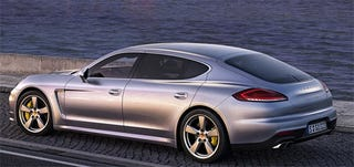 Illustration for article titled So...they went ahead and stretched the Panamera for the Chinese market.